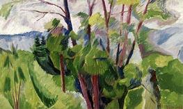 Umberto Boccioni | Landscape, 1916 | Giclée Canvas Print