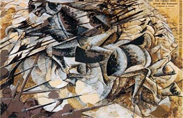 Umberto Boccioni | Charge of the Lancers, 1915 | Giclée Canvas Print