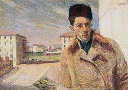 Umberto Boccioni | Self-Portrait, 1908 | Giclée Canvas Print