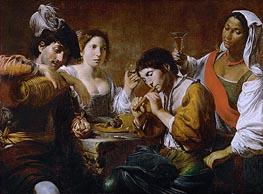Valentin de Boulogne | Reunion in a Cabaret, c.1625 | Giclée Canvas Print