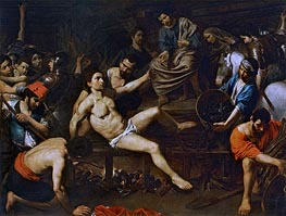 Valentin de Boulogne | The Martyrdom of Saint Laurence, c.1621/22 | Giclée Canvas Print