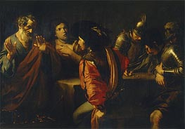 Valentin de Boulogne | The Denial of St. Peter, 1620 | Giclée Canvas Print