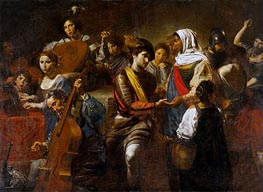 Valentin de Boulogne | Fortune Teller with Concert Party, 1631 | Giclée Canvas Print