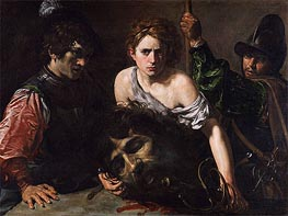 Valentin de Boulogne | David with the Head of Goliath and Two Soldiers, c.1620/22 | Giclée Canvas Print