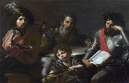 Valentin de Boulogne | The Four Ages of Man, c.1629 | Giclée Canvas Print