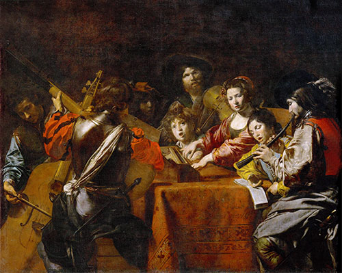 Concert with Eight People, c.1628/30 | Valentin de Boulogne | Painting Reproduction