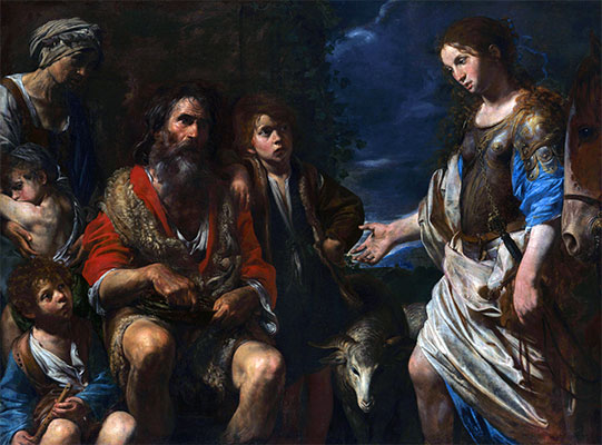 Erminia and the Shepherds, c.1630 | Valentin de Boulogne | Painting Reproduction