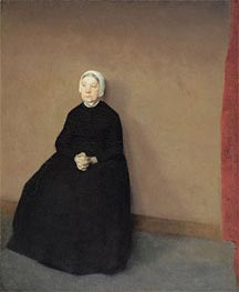 Hammershoi | Old Woman, Seated, 1886 | Giclée Canvas Print
