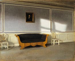 Hammershoi | Sunshine in the Living Room III, 1903 | Giclée Canvas Print