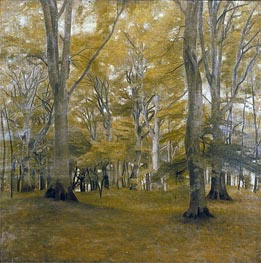 Hammershoi | Forest Interior (The Big Trees), 1896 | Giclée Canvas Print