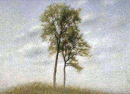 Hammershoi | Unge Ege (Young Oak Trees), 1907 | Giclée Canvas Print