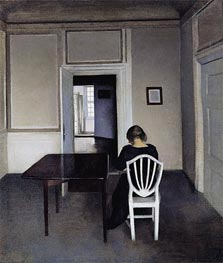 Hammershoi | Interior with Ida in a White Chair, 1900 | Giclée Canvas Print