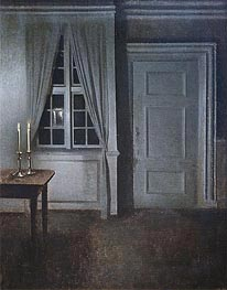 Hammershoi | Interior with Two Candles, 1904 | Giclée Canvas Print