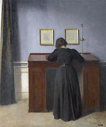 Hammershoi | Ida Standing at a Desk, 1900 | Giclée Canvas Print