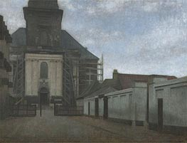 Hammershoi | Strandgade with Christians Kirke in the Background, c.1907/08 | Giclée Canvas Print