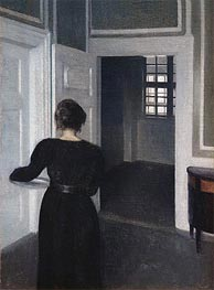 Hammershoi | Ida in an Interior, 1904 | Giclée Canvas Print
