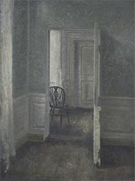 Hammershoi | Interior with a Windsor Chair, 1913 | Giclée Canvas Print