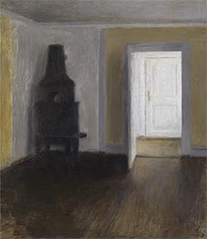 Hammershoi | The White Door, 1888 | Giclée Canvas Print