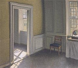 Hammershoi | Bedroom, Strandgade 30, 1906 | Giclée Canvas Print