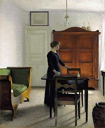 Hammershoi | Ida in an Interior, 1897 | Giclée Canvas Print