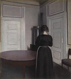 Hammershoi | Interior, 1899 | Giclée Canvas Print
