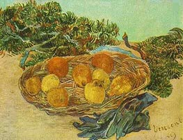 Vincent van Gogh | Still Life with Oranges, Lemons and Blue Gloves | Giclée Canvas Print