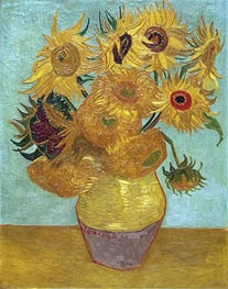 Vincent van Gogh | Still Life: Vase with Twelve Sunflowers | Giclée Canvas Print