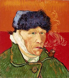 Vincent van Gogh | Self Portrait with Bandaged Ear and Pipe | Giclée Canvas Print