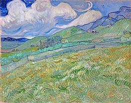 Vincent van Gogh   Mountainous Landscape Behind Saint-Paul Hospital, 1889   Giclée Canvas Print