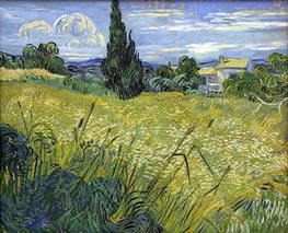 Vincent van Gogh   Green Wheat Field with Cypress, 1889   Giclée Canvas Print