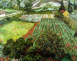 Vincent van Gogh | Field with Poppies, 1889 | Giclée Canvas Print