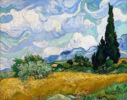 Vincent van Gogh | Wheat Field with Cypresses, 1889 | Giclée Canvas Print