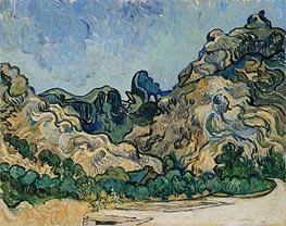 Vincent van Gogh | Mountains at Saint-Remy with Dark Cottage, 1889 | Giclée Canvas Print