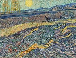 Vincent van Gogh | Enclosed Field with Ploughman, Late Augus | Giclée Canvas Print