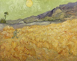Vincent van Gogh | Wheatfield with a Reaper, 1889 | Giclée Canvas Print