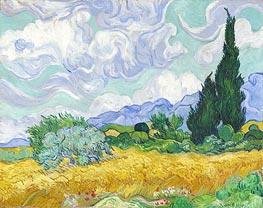 Vincent van Gogh | Wheatfield with Cypresses, 1889 | Giclée Canvas Print