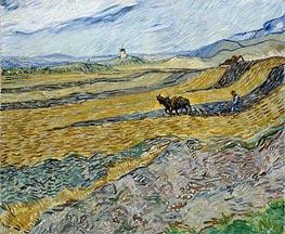 Vincent van Gogh | Enclosed Field with Ploughman | Giclée Canvas Print