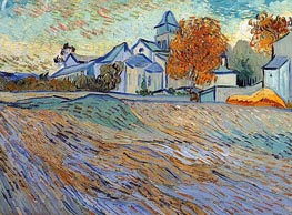 Vincent van Gogh | View of the Church of Saint-Paul-de-Mausole | Giclée Canvas Print