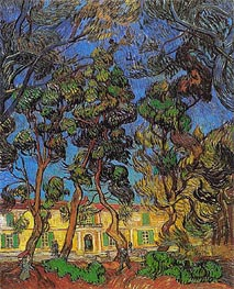 Vincent van Gogh | Trees in the Garden of Saint-Paul Hospital | Giclée Canvas Print