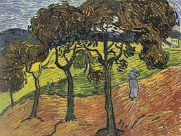 Vincent van Gogh | Landscape with Trees and Figures, 1889 | Giclée Canvas Print