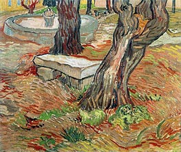 Vincent van Gogh | The Stone Bench in Garden of Saint-Paul Hospital, 1889 | Giclée Canvas Print