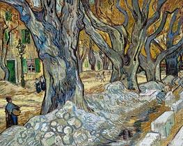 Vincent van Gogh | The Large Plane Trees (Road Menders at Saint-Remy), 1889 | Giclée Canvas Print