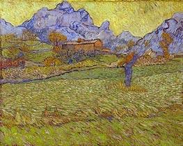 Vincent van Gogh | Wheatfields in a Mountainous Landscape, 1889 | Giclée Canvas Print