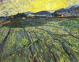 Vincent van Gogh | Enclosed Field with Rising Sun, 1889 | Giclée Canvas Print