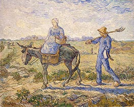 Vincent van Gogh | Morning: Going out to Work (After Millet)  , 1890 | Giclée Canvas Print