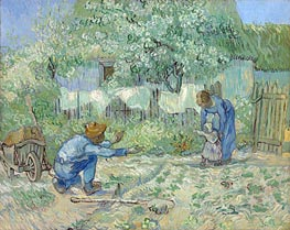 Vincent van Gogh | First Steps (after Millet), 1890 | Giclée Canvas Print