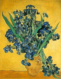 Vincent van Gogh | Vase with Irises Against a Yellow Background, 1890 | Giclée Canvas Print