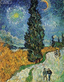 Vincent van Gogh | Road with Cypress and Star, 1890 | Giclée Canvas Print