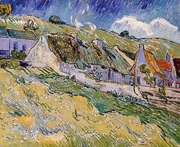 Vincent van Gogh | Cottages at Auvers-sur-Oise, 1890 | Giclée Canvas Print