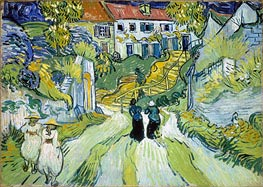 Vincent van Gogh | Village Street and Stairs with Figures, 1890 | Giclée Canvas Print